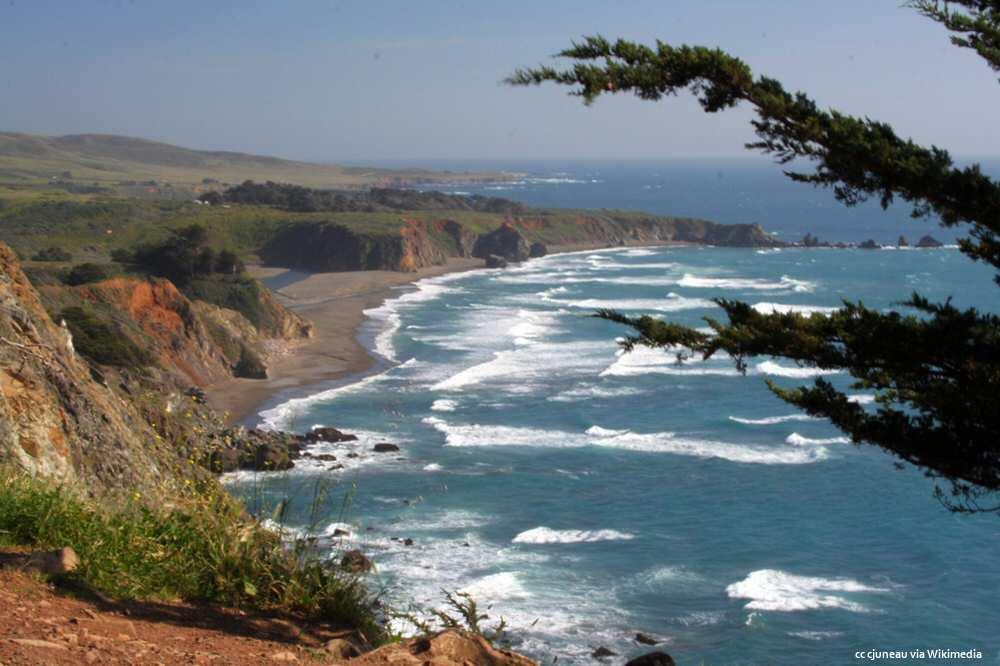 Scenic view of San Carpoforo Beach and Ragged Point