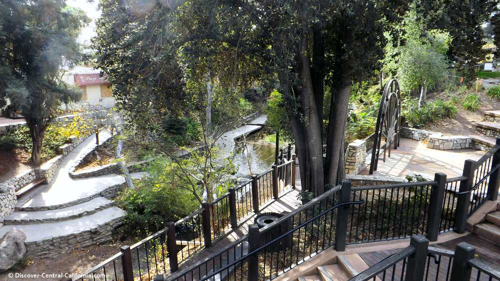 Another view of the San Luis Obispo Creek walk from Mission Plaza
