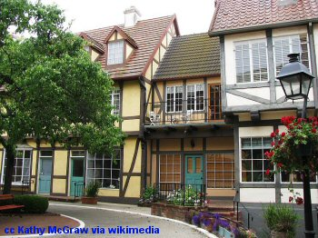 Half timbered houses in Solvang California