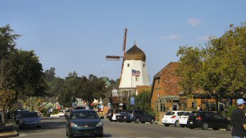 The landmark windmill on Alisal Road, Solvang