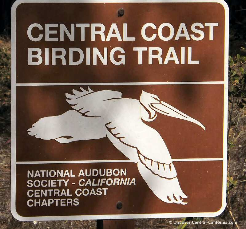 California Central Coast Birding Trail sign at Sweet Springs Nature Preserve in Los Osos on Morro Bay