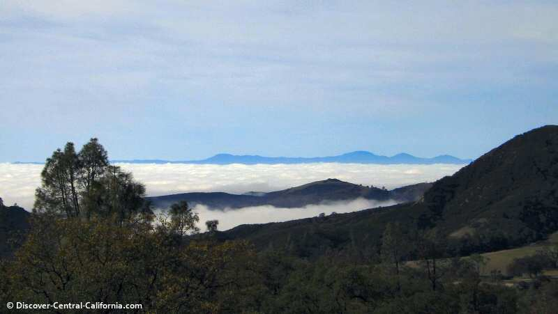 Looking toward the west with the Santa Lucia range in the distance. On the other side is Big Sur