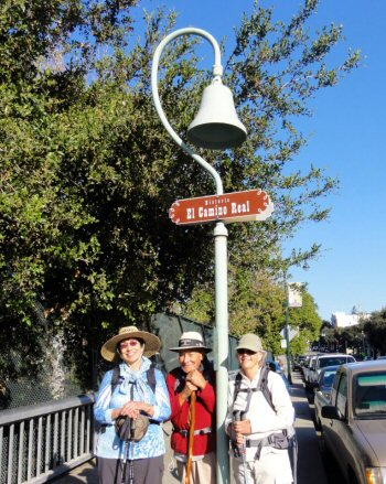 El Camino Real walkers in Los Gatos