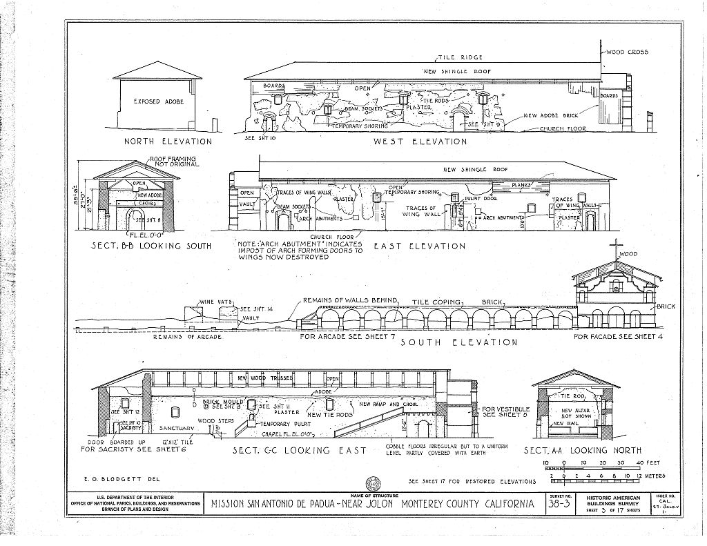 Elevations of the church