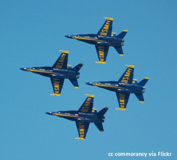 The Blue Angels US Navy Aerobatic tea