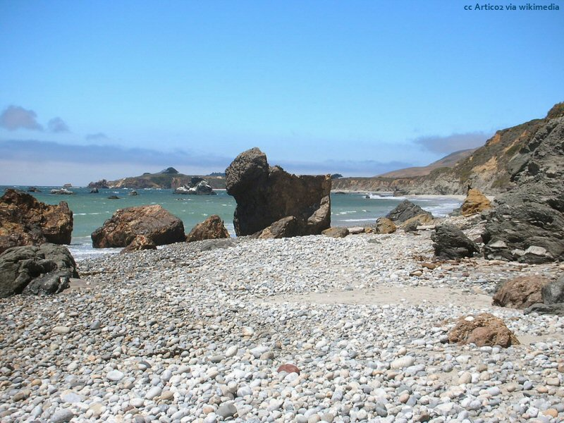 Andrew Molera Beach - a typical rocky Big Sur beach