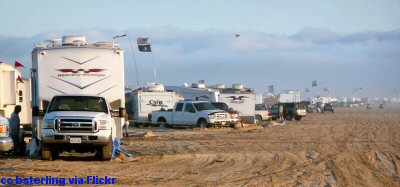 Camping right on the beach at Oceano Dunes SVRA