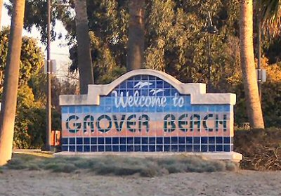 Grover Beach welcome sign