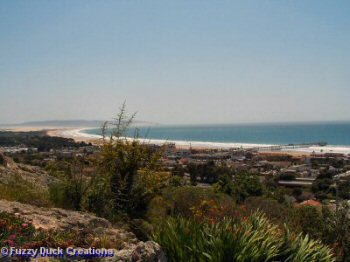 A view of Pismo Beach from the hills
