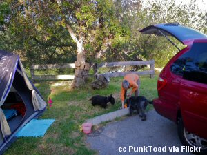 Camping site at Pismo State Beach