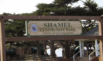 Shamel Park sign in Cambria