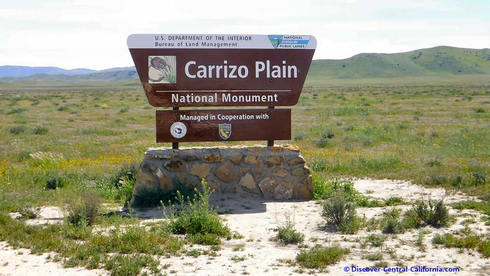 Carrizo Plain NM sign