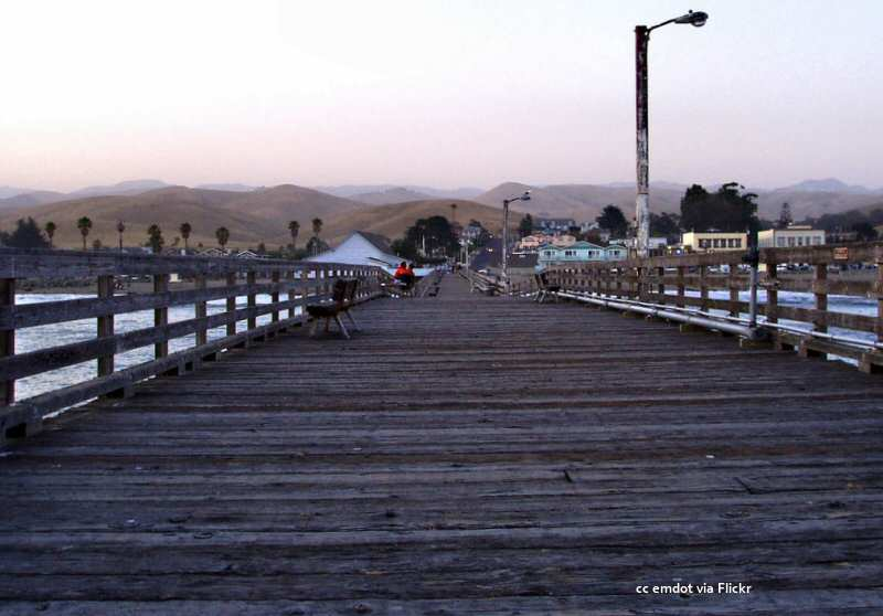 Landward view from the Cayucos Pier