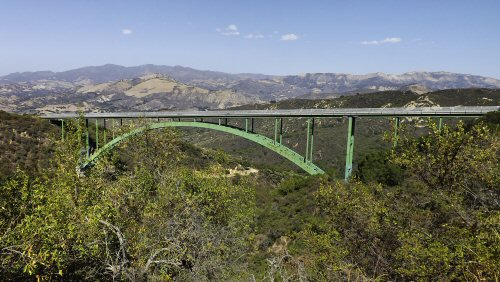 The Cold Spring Arch Bridge viewed from Stagecoach Road