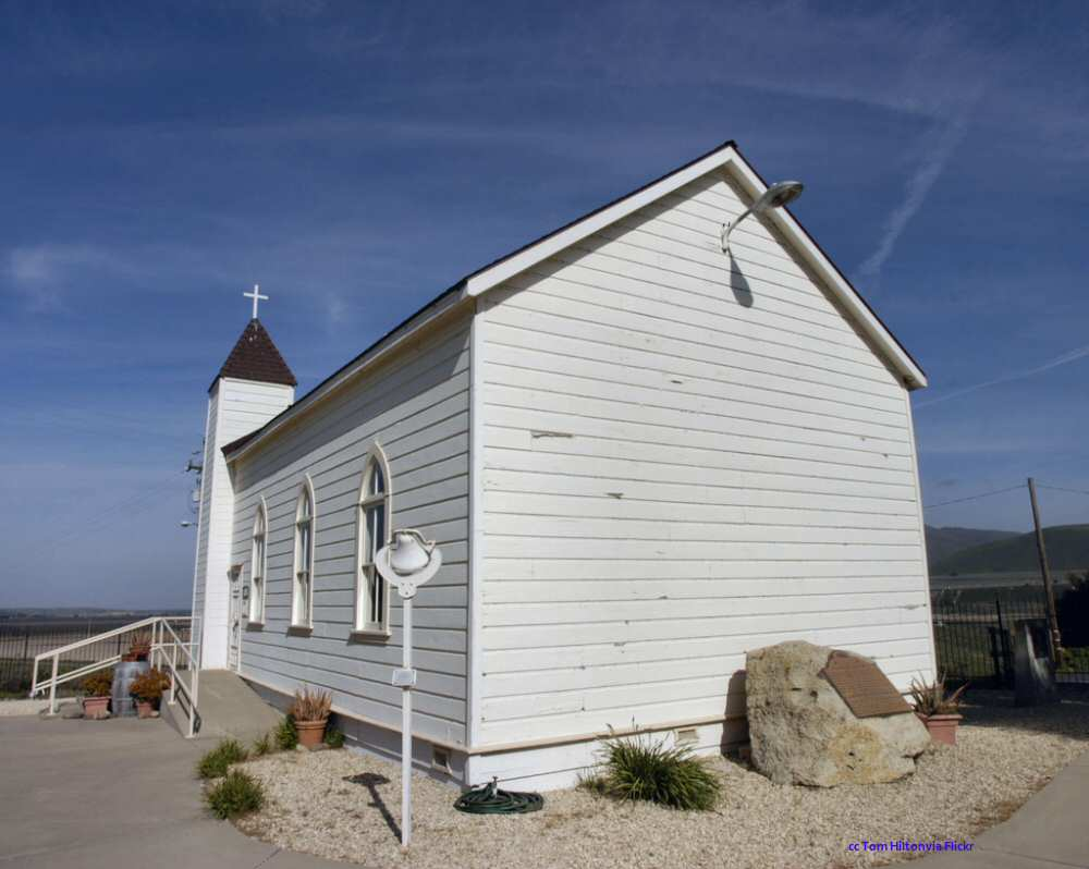 The Foxen family chapel now on the Rancho Sisquoc winery property