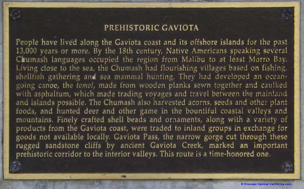 One of a series of plaques in the northbound Gaviota rest area