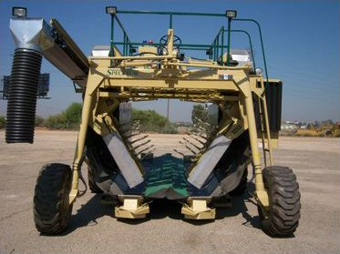 Mechanized grape harvester