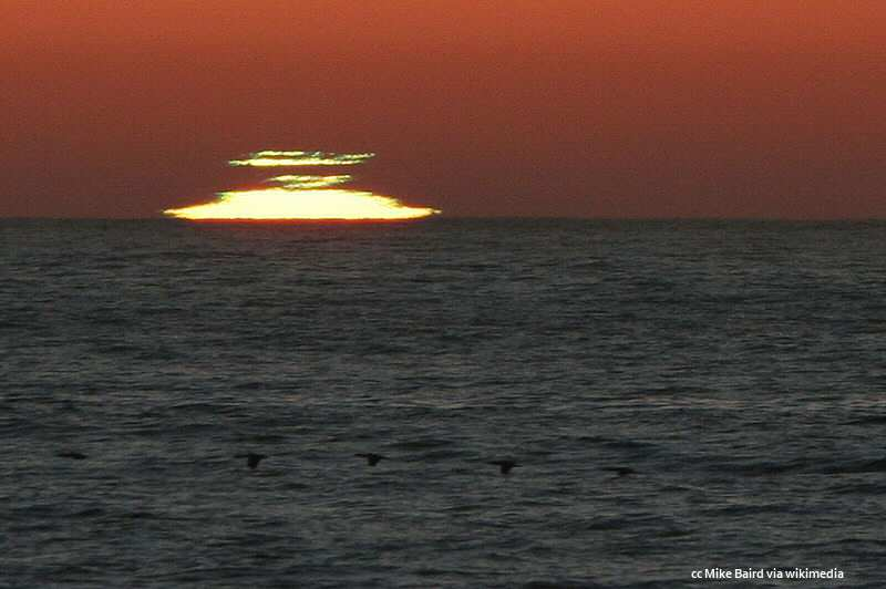 Green flash from Morro Strand