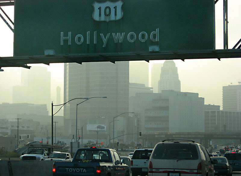 Highway 101 in downtown LA