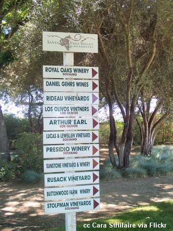 Wine Country sign in the Santa Ynez Valley