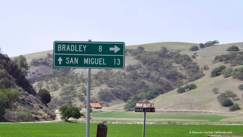 Intersection of Hare Canyon and Indian Valley