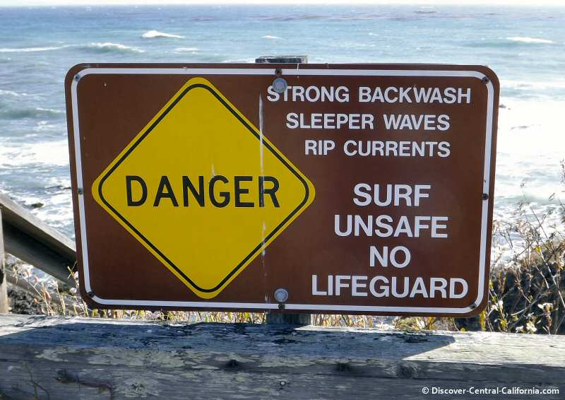 This is not the place for a relaxing ocean swim...