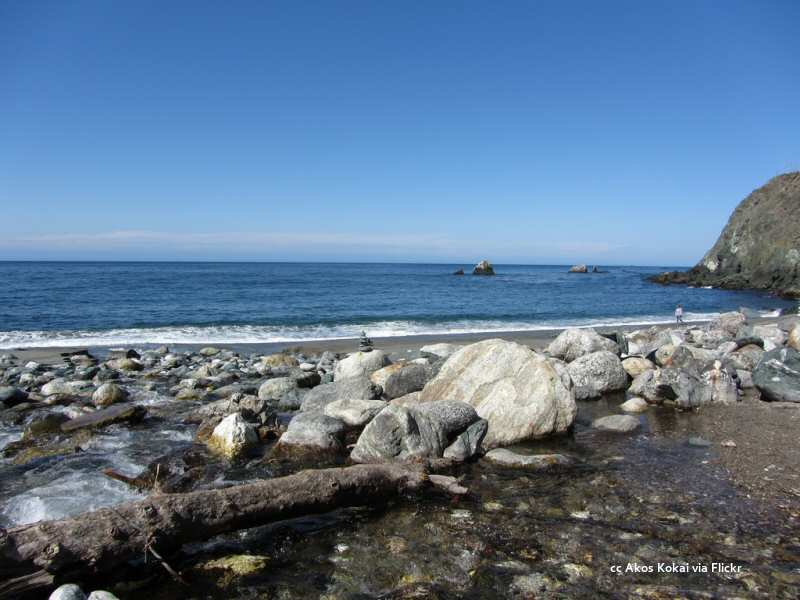 The beach at Limekiln State Park