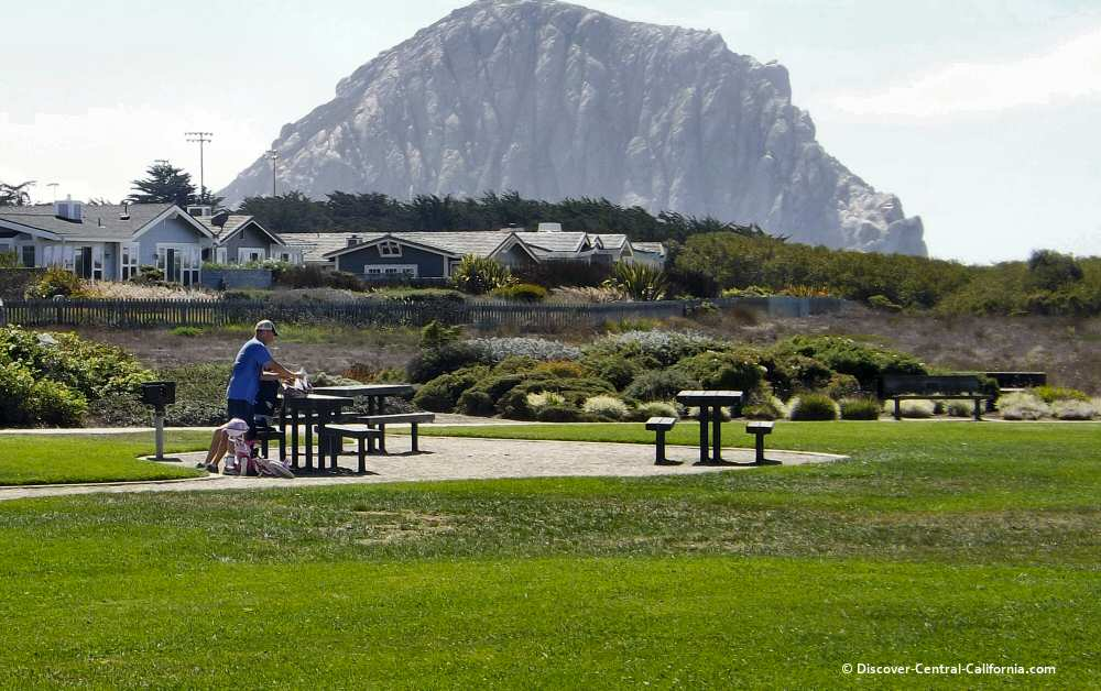 Picnic area at Cloisters Park in Morro Bay