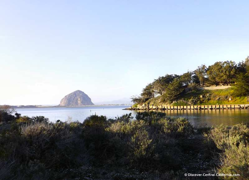 The Morro Rock viewed from the Morro Bay marina