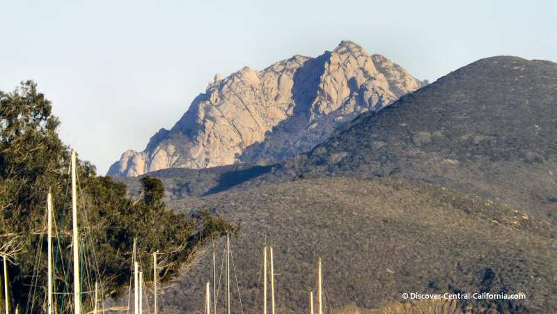 Hollister Peak showing the same geological structure as Morro Rock