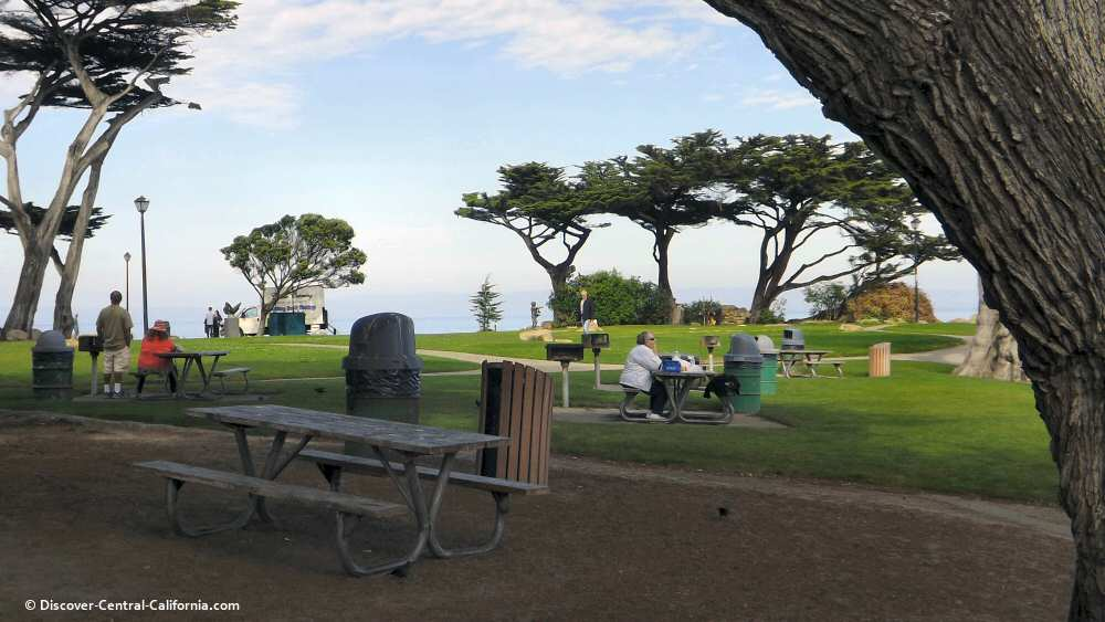 The picnic area at Lovers Point in Pacific Grove