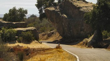 Very narrow passage on Painted Cave Road