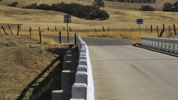The movement of the San Andreas fault shown in this bridge near Parkfield