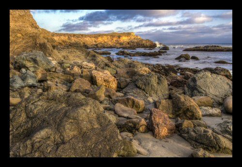 A rocky beach at Estero Bluffs State Park north of Cayucos