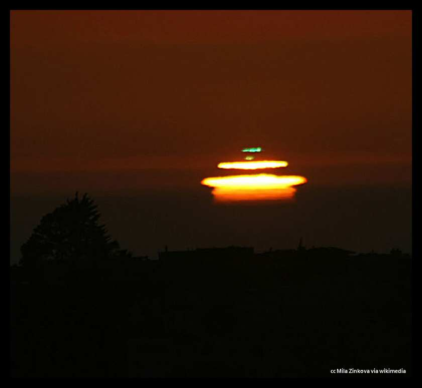 The green flash over the ocean
