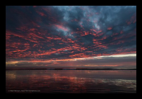 A spectacular November sunset at the Morro Strand State Beach