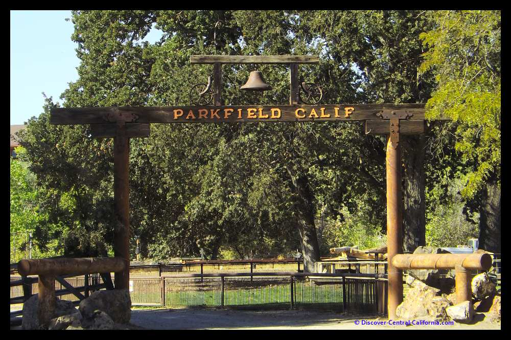 Fancy gate at the Parkfield Cafe