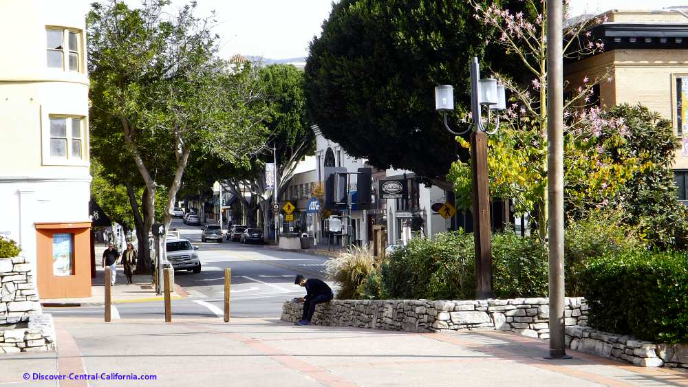 Monterey Street viewed from Mission Plaza
