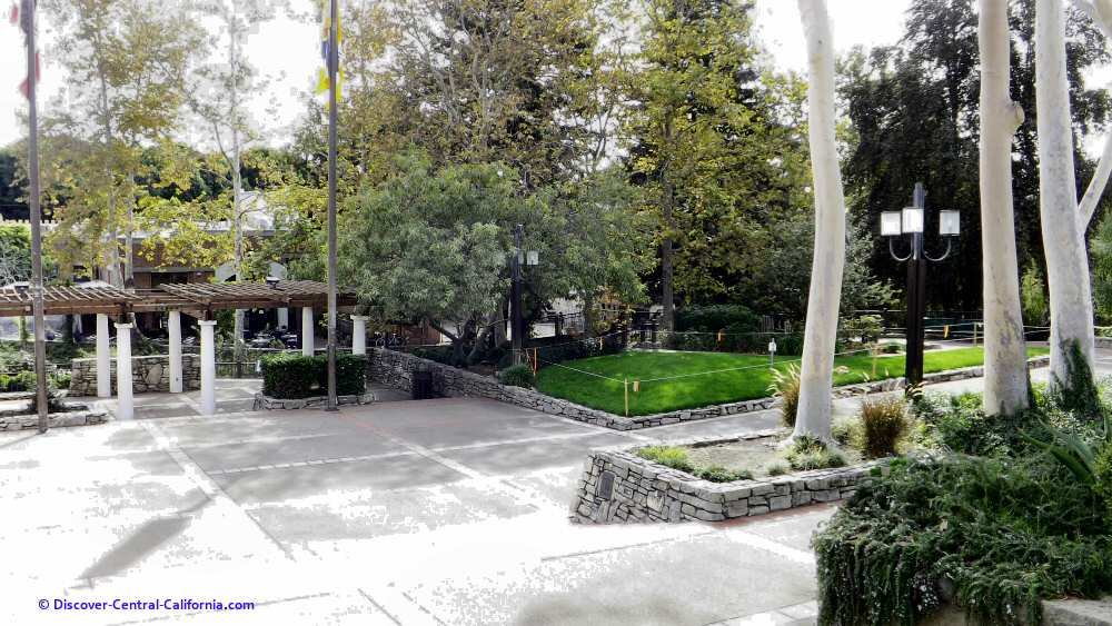 View of a portion of Mission Plaza from the church steps