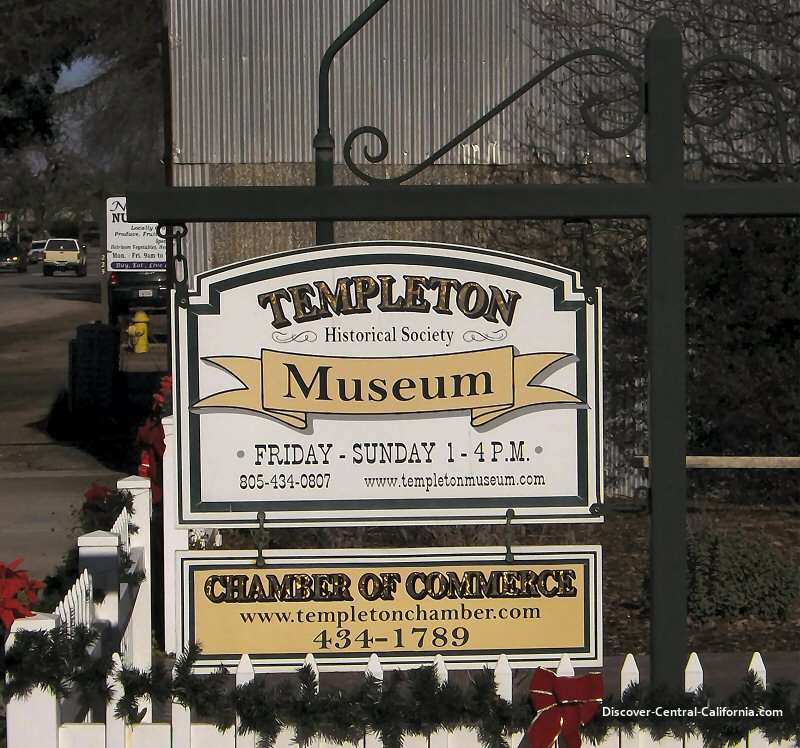 Templeton Historical Society sign